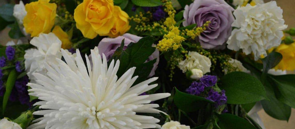 Sympathy flowers in Saddleworth