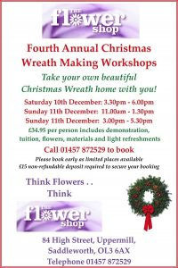 Christmas wreath-making workshop 2016
