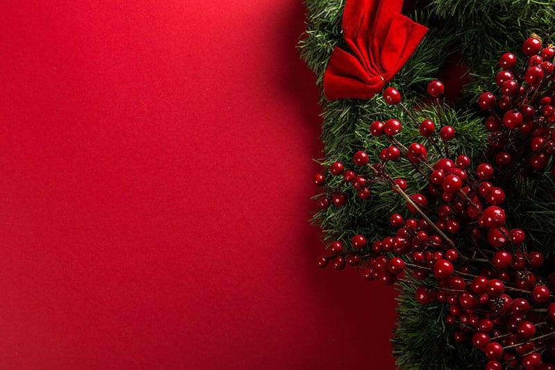 Christmas wreath making uppermill